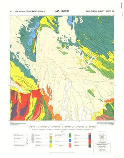 1 : 125,000 Somaliland Protectorate. Geological Survey. D.C.S. 1076, Las Dureh